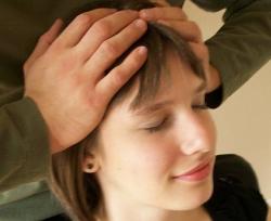 Girl getting a massage